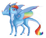 earthsong9405 highres kirin rainbow_dash species_swap