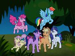 applejack fluttershy generation_leap highres jackiebloom main_six pinkie_pie rainbow_dash rarity twilight_sparkle
