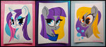 derpy_hooves maud_pie rarity spacekitsch traditional_art