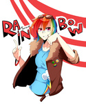 bracelet coat goggles humanized rainbow_dash tomoe-chi