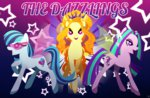 adagio_dazzle aria_blaze equestria_girls highres magneticskye ponified sunset_shimmer text the_dazzlings