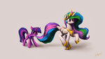 highres lolliponybrony princess_celestia princess_twilight twilight_sparkle
