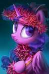 flowers princess_twilight sorcerushorserus twilight_sparkle