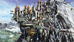balthasar999 canterlot dirigible highres scenery train waterfall