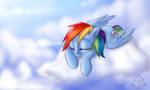 cloud highres rainbow_dash recycletiger wallpaper