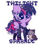 goth otterlore owlowiscious punk twilight_sparkle