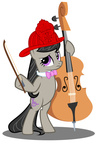 absurdres bipedal cello firefighter gratlofatic hat highres i_shall_not_use_my_hooves_as_hands instrument octavia_melody transparent tygerbug vector
