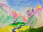 blackligerth canterlot scenery traditional_art watercolor