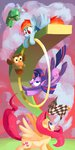 absurdres docwario flag fluttershy flying highres hoop owlowiscious princess_twilight rainbow_dash tank twilight_sparkle