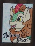 autumn_blaze helicityponi highres kirin traditional_art