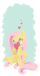 fluttershy heart i_shall_not_use_my_hooves_as_hands parfywarfy valentine