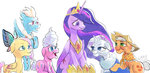 applejack fluttershy main_six old pinkie_pie princess_twilight raikoh14 rainbow_dash rarity twilight_sparkle