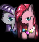 caibaoreturn highres maud_pie necklace pinkamena_diane_pie pinkie_pie