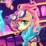 clothes dress earring fluttershy glasses lumineko