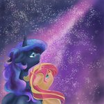 absurdres firimil highres princess_luna sunset_shimmer