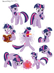 book brenda_hickey expression_chart insanity magic twilight_sparkle