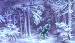 forest holivi original_character snow trees winter
