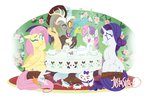 angel carrot discord flowers fluttershy justasuta mouse opalescence rarity sweetie_belle table tea tea_party teabag teacup teapot