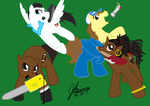 axe chainsaw coach crossover ellis left_4_dead mrawgirl09 nick ponified rochelle weapon