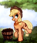 applejack highres sketch thefloatingtree