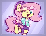 absurdres clothes fluttershy glasses hat highres kimjoman scarf
