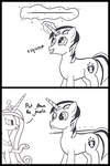 comic lineart magic princess_cadance shining_armor spear weapon westy543