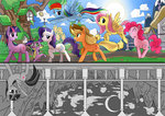 applejack caibaoreturn fluttershy grayscale main_six pinkie_pie princess_twilight rainbow_dash rarity spike twilight_sparkle