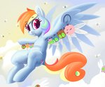 absurdres dimfann flying highres parasprite rainbow_dash