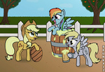 applejack barrel cider derpy_hooves mug rainbow_dash skunk412