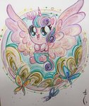 butterfly highres princess_flurry_heart sararichard traditional_art