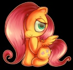 chibi fluttershy fox-feathers