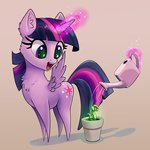 absurdres highres magic plant princess_twilight twilight_sparkle watering_can xbi