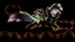 artist_unknown highres rainbow_dash simple wallpaper white_on_black