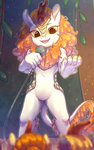 absurdres autumn_blaze highres kirin microphone peachmayflower