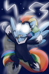 glowing_eyes highres lightning power_ponies rainbow_dash wizardglitter zapp