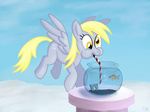 bubble derpy_hooves fish fish_bowl straw werdkcub