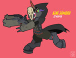 absurdres anthro costume highres inspectornills king_sombra overwatch reaper