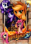 applejack derpy_hooves fluttershy indiana_jones lavosvsbahamut main_six mare_in_the_moon moon parody pinkie_pie poster rainbow_dash rarity spike twilight_sparkle
