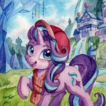 hat scarf starlight_glimmer the-wizard-of-art traditional_art