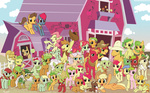 apple_bloom apple_bottoms apple_rose applejack aunt_orange aunty_applesauce babs_seed background_ponies big_macintosh braeburn caramel florina_tart golden_delicious granny_smith hayseed_turniptruck hinoraito mosely_orange red_gala