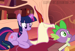 book egophiliac highres quill spike twilight_sparkle