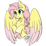 flowers fluttershy its-gloomy redesign