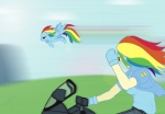 glasses humanized motorcycle rainbow_dash species_confusion sunglasses txlegionnaire