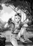 grayscale humanized ponykillerx rainbow_dash
