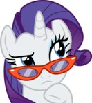absurdres cloudyglow glasses highres rarity vector