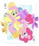 dm29 fluttershy pinkie_pie playing_card