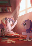 book filly highres larest plushie princess_cadance smarty_pants toy twilight_sparkle