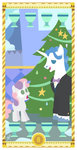 christmas_tree cup fancy_pants highres janeesper sweetie_belle tarot