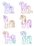 applejack fluttershy generation_leap highres main_six pinkie_pie rainbow_dash rarity shadowgirlfan twilight_sparkle