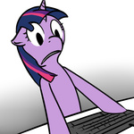 computer looking_at_the_place_which_shall_not_be_named reaction_image shinmera twilight_sparkle